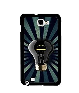 Fuson Premium Luminiscent Bulb Metal Printed with Hard Plastic Back Case Cover for Samsung Galaxy Note 2 N7100