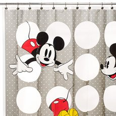 Disney Mickey Vinyl Shower Curtain - Eco-friendly & Chlorine Free