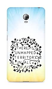 AMEZ there is unmapped territory in all of us Back Cover For Lenovo Vibe P1
