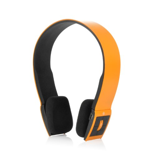 Slim Wireless Bluetooth V3.0 Stereo Headset For Tablets, Mp3 Players, And Other Bluetooth Devices (Orange)