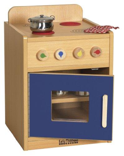 Ecr4Kids Play Kitchen Stove, Blue