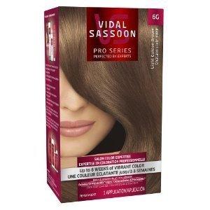 Vidal Sassoon Pro Series Salon Quality Hair Color, 6G Light Golden Brown (Pack of 3) by Vidal Sassoon