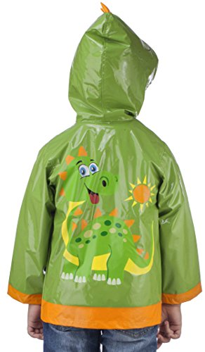 Little Boy's Dinosaurs Green Raincoat - Size 2T