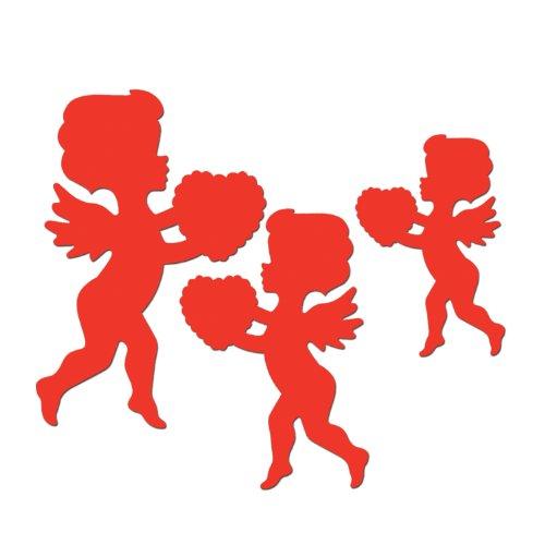 Pkgd Printed Cupid Cutouts   (6/Pkg)