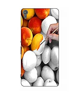 Make My Print Abstract Printed Colorful Hard Back Cover For Sony Xperia XA Dual