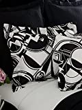 Ralph Lauren Ellington Art Deco Black and White King Sized Sham Pillow