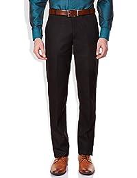 GHPC Men's Plain Regular Fit Formal Trouser