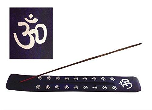 Azul marino madera Namaste equipo de incienso con madera de fresno con soporte para incienso Hippie Boho Festival