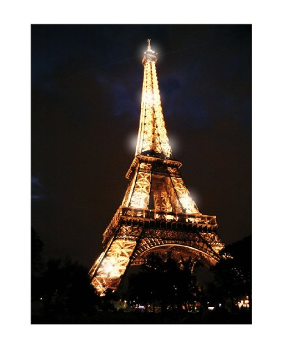 Ohio Wholesale Radiance Lighted Canvas Wall Art, Eiffel Tower Design, Everyday Collection