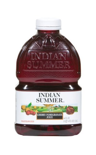 Indian Summer 100% Juice, Cherry Pomegranate, 46-Ounce Containers (Pack of 8) by Indian Summer (Indian Summer Cherry Juice compare prices)