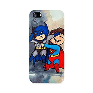 Rayite Batman and Superman Kids Premium Printed Case For Apple iPhone 5/5s