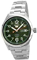 Stainless Steel Case and Bracelet Green Dial Day and Date Displays Automatic