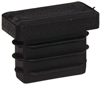 Kapsto 270 R 2010 1.5 - 2 Polyethylene Rectangular Plug, Black, 20x10 mm (Pack of 100)