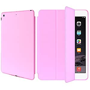 AirCase Polyurethane Smart Case with Foldable Stand for iPad Mini 3[PINK]