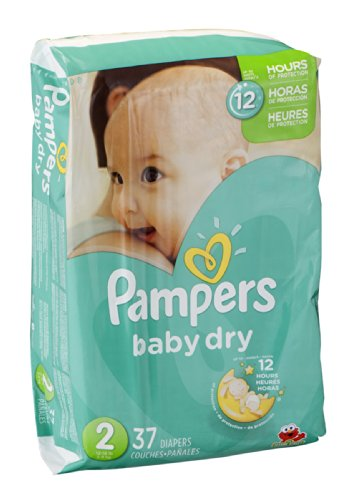 Pampers Baby Dry Size 2 Sesame Street Diapers - 37 CT 37 CT (Pack of 4)