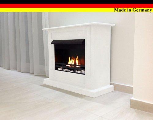 Gel + Ethanol Fireplace - Caminetto Emily Deluxe con bruciatore regolabile in acciaio inox, in 9 colori diversi bianco