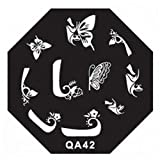 Template Manicure Stamping Nail Art Plates QA Series Type Code QA42