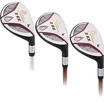2 EZ Golf Club Hybrids 18-21-24 MRH Graphite Regular Flex