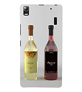Fuson 3D Printed Wine Designer Back Case Cover for Lenovo A7000 - D800