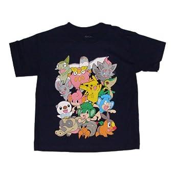 Pokemon 14 Character Boys T Shirt S 4 Navy