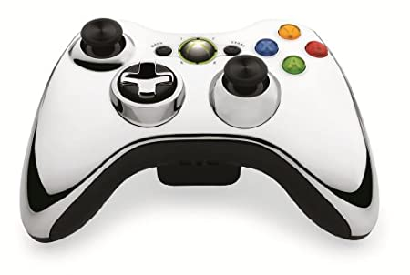 Microsoft - Special Edition Chrome Series Wireless Controller for Xbox 360 - Silver