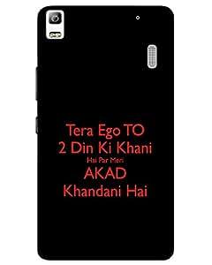 MobileGabbar Lenovo K3 Note Back Cover Plastic Hard Case