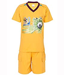 Ultrafit Junior Boys Cotton Yellow Twin Sets