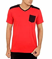 Younsters Choice Men's Cotton T-Shirt (YC-5813_Red_X-Large)