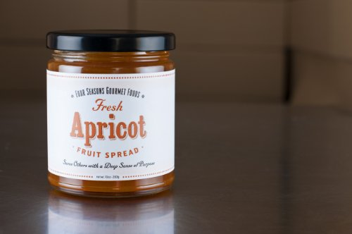 6 PACK Homemade Apricot Fruit Spread Jam Low Sugar Fat Free Sodium Free Made From USA Apricots (No Salt Cheese compare prices)
