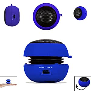 Blue 3.5mm Audio Jack Portable Plug and Play Hamburger Rechargeable Mini Wired Speaker For SAMSUNG GALAXY S DUOS 2 S7582 Mobile Cellular Cell Phone
