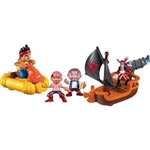Jake and the Neverland Pirates Adventure Playset with Jake, Cubby, Izzy and Captain Hook Figures