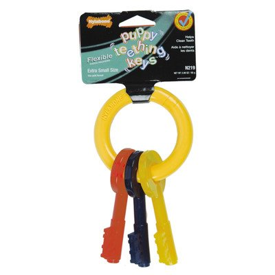 Nylabone Just For Puppies Key Ring Bone Puppy Dog Teething Chew Toy