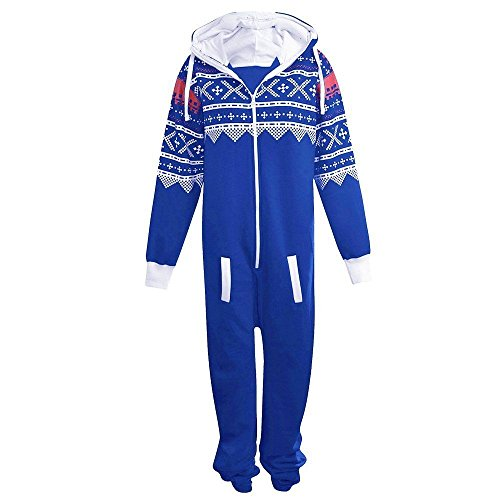Kids-Unisex-Aztec-Print-Zip-Up-Onesie-Hooded-Jumpsuit-Sleep-Wear-all-in-one-Playsuit