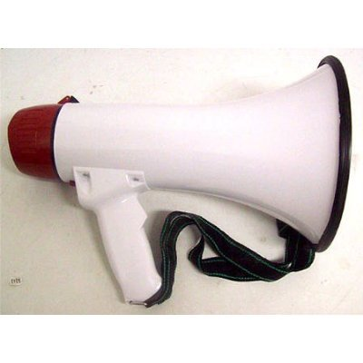 Bulk Buys Outdoor Portable Bull Horn Speaker Megaphone With Music And Siren Switches 1 Pack