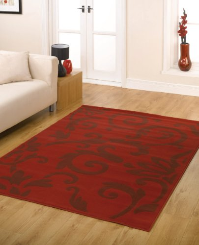 XLarge Modern Rug in Red 160 x 225 cm (5'4