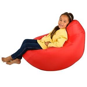 Kids Hi-BagZ - Kids Bean Bag Gaming Chair - Childrens Beanbag (Water Resistant) RED from Hi-BagZ