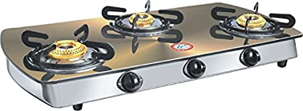 Metalica Gold Glass Cook Top (3 Burner)