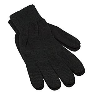 Amazon.com : Winter Womens Knit Black Gloves : Cycling