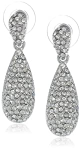 Nina Pave Crystal Teardrop Earrings