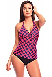 Women`s noble Push Up Tankini with Briefs/Slip two pieces Swimsuit 1120AS-f4336