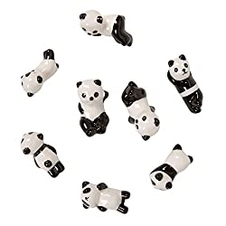 Oh. Baby Cute Hand-made Chinese Ceramic Cartoon Panda Pattern Chopstick Rest Spoon Fork Knife Holder - 6pcs