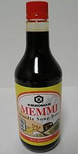 Kikkoman brand Memmi Noodle Soup Base. 20fl.oz bottle (Pack of 12)