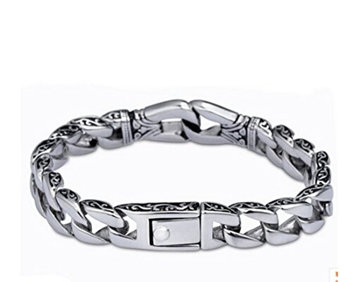 Eastop Silver Simple Unisex Good Texture Bracelet