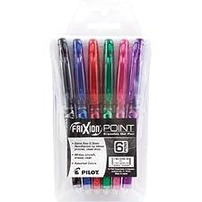 Punto di multa Extra FriXion cancellabile Gel penne colori assortiti 6/Pkg