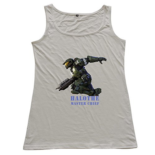 ZhiXiong Womens 100% Cotton Halo The Master Chief Collection Tank Top Tees (Halo Master Chief Collectors Edition)