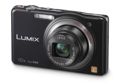 Panasonic DMC-SZ7EB-K Black 10x Super Zoom Compact Camera with 25mm LEICA Lens and Full HD Movie