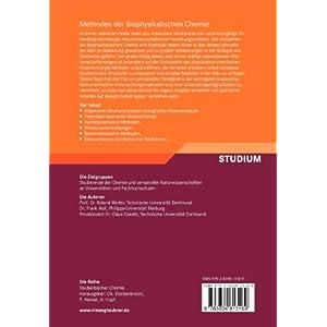 Methoden der Biophysikalischen Chemie (Studienbücher Chemie) (German Edition)