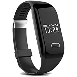 CAMTOA Impermeabile Activity Tracker , Fitness Tracker , Wireless Activity Wristband , Intelligente Sport Braccialetto, Braccialetto Monitoraggio Battito Cardiaco e Rilevamento Attività Fisica Nero