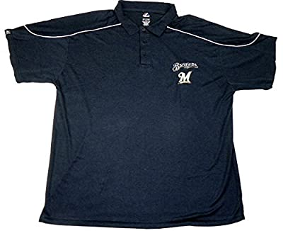 Milwaukee Brewers MLB The Rundown Synthetic Polo, Big Sizes