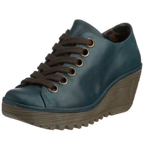 Fly London Women's Yin Lace Up Leather Petrol P500081002 3 UK